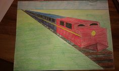 One point perspective for 5th graders....I made a step by step tutorial on how to make the train and the students were able to follow it and do an awesome job!
