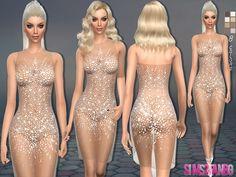 80 - Mini transparent dress - The Sims 4 Catalog The Sims 4 Pc, Sims 4 Cas, Sims Cc, Sims 4 Mods Clothes, Sims 4 Clothing, Sims Mods, Die Sims 4 Packs, Sims 4 Controls, Sims 4 Dresses