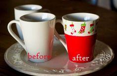 painted Christmas mug