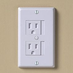 clever. Hopefully, your child will not figure out how to slide the cover too early. :) KidCo® Universal Outlet Covers