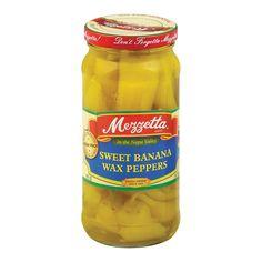 Marzetta Sweet Banana Wax Peppers - Banana Peppers - Case Of 6 - 16 Oz.
