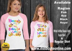 Adorable Emoji Mother Daughter Birthday Shirts