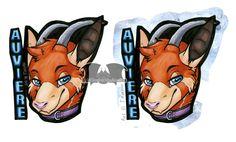 Auviere Badge by Temrin https://temrin.deviantart.com/art/Auviere-Badge-704099354  #furry #art #copic #copicmarker #badge #goat #redpanda #animal #cute