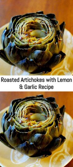 Roasted Artichokes with Lemon & Garlic Recipe – Sanji Recipe Taco Pie Recipes, Garlic Recipes, Sauce Recipes, Veggie Recipes, Bread Recipes, Appetizer Recipes, Appetizers, Marinated Artichoke Recipe, Artichoke Recipes