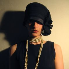 RESERVED FOR fLuffyDReam  1920s Black Hat a la Chanel by nedaisy