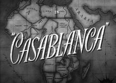 Movie title screen for the 1942 classic Casablanca which starred Humphrey Bogart and Ingrid Bergman. Humphrey Bogart, Bogart And Bacall, Film Casablanca, Casablanca Quotes, Movie Titles, Movie Quotes, I Movie, Movie Posters, Movie List