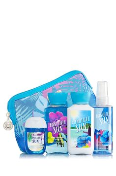 Bath and Body Works Travel Gift Set Honolulu Sun ^^ See this great image  : Travel Skincare