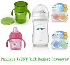 philips avent, philips avent gift basket, giveaway, natural drinking cup, natural bottle, avent pacifiers, sippy cup