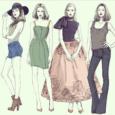 Fashion illustrations by alex tang