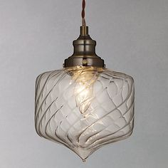 Buy John Lewis Romilly Twisted Glass Pendant Ceiling Light Online at johnlewis.com
