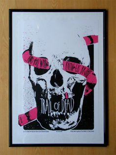 Alternative version of the Trail of Dead screen print for their gig at The Rescue Rooms, Nottingham