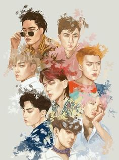 Find images and videos about kpop, exo and sehun on We Heart It - the app to get lost in what you love. Kpop Exo, Exo Kokobop, Exo 12, Luhan, Park Chanyeol, Character Illustration, Digital Illustration, Exo Fanart, Kai