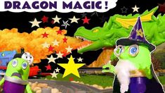 Funny Funlings learn colors with Wizard Funling Dragon Magic and Thomas The Train in this fun learning video. Wizard Funling uses his magic to feed the drago.