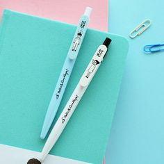 (5 pieces/lot)  Korea Stationery Cute Cartoon Pen Creative Writing Student Press Ballpoint Pen
