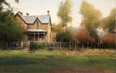 BRUCE CHEEVER A TOUCH OF AUTUMN oil on board 14 x 22 in (35.56h x 55.88w cm) $6,000 www.trailsidegalleries.com