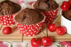 Ricetta veloce - Muffin e Tortine nutella e ciliegie