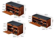 Shoe Storage Furniture, Hall Furniture, Bench With Shoe Storage, Smart Furniture, Space Saving Furniture, Furniture Plans, Furniture Design, Shoe Cabinet Design, Shoe Drawer