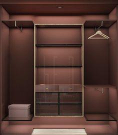 Гардеробная в цвете марсала. Наш дизайн интерьера квартиры в Киеве для блогера Вари. #design #interior #гардеробная #дизайн #интерьер #архитектура #марсала