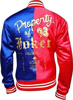 06c6c7ae Beautiful Classic Outfitters Harley Quinn Margot Robbie Suicide Squad  Daddy's Little Puddin Satin Varsity Jacket online