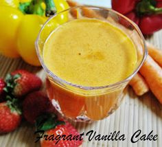 Fragrant Vanilla Cake: Pep Me Up Carrot Juice