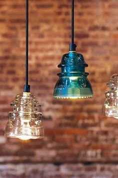 who loves this old insalators as lights i want this in my kitchen
