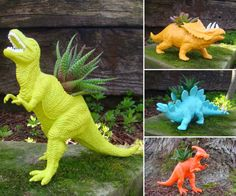 LOVE these dino planters!  And love that they are a local startup!