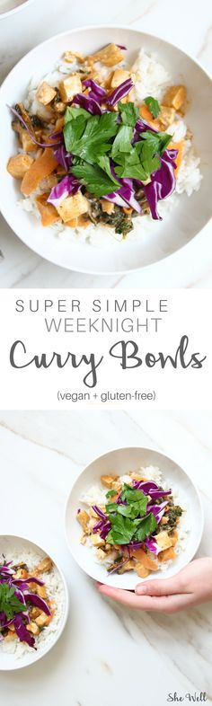 This easy dinner recipe is great for weeknight or work week! Makes a big batch and is great for people who are vegetarian, vegan and gluten-free! Click to read now or pin for later!
