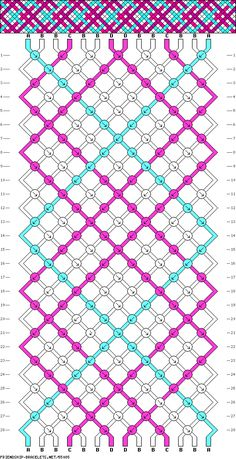 Adventurous friendship bracelet pattern