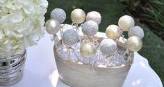 Silver and gold cake pops Metallic cake pops Wedding dessert