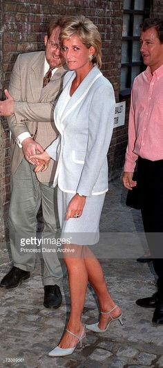 Princess Diana at the English National ballet headquarters in London on the day her divorce from Prince Charles, Prince of Wales, became final, 28th August 1996.