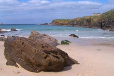Spain, Galicia, A Coruña, Ferrol, Santa Comba Beach