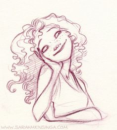 cute sketch of a girl. by Sarah Mensinga
