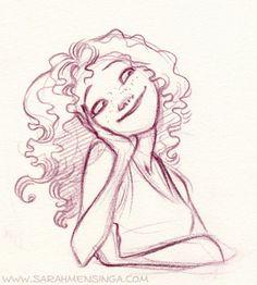 cute sketch of a girl. by Sarah Mensinga