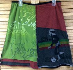 Womans Upcycled Skirt, Size XLarge