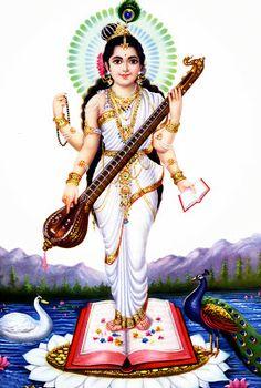 Goddess Saraswathi looking youthful and radiant