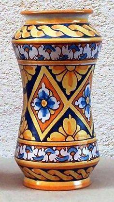 Albarello vaso da Farmacia Ceramiche Artistiche Liborio Palmeri Maioliche di Sciacca