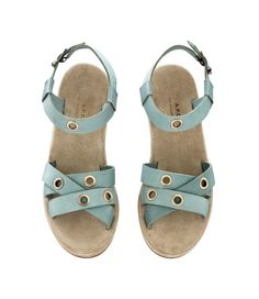 A.P.C. eyelet sandals, turquoise
