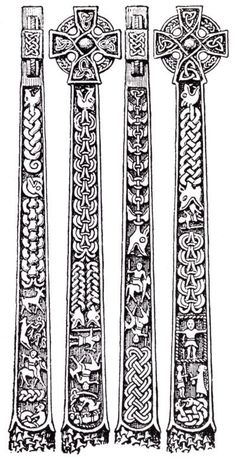 The Gosforth cross, a century Viking cross in St. It depicts various scenes from Norse mythology. Lots of potential for embroidery designs! Viking Designs, Celtic Knot Designs, Cross Designs, Norse Tattoo, Celtic Tattoos, Viking Symbols, Viking Runes, Viking Age Art, Viking Woman