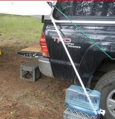 Water Catching For Hair Washing Worked Great Rain From Tarp Drooled Down The