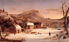'Winter in the Rockies' by Jasper Francis Cropsey (1823-1900, United States)