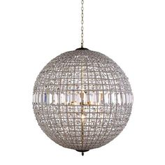 Olivia French Gold Eight-Light Pendant