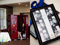 Party favors for the guests were frames with colbalt blue ribbons for their photobooth pictures to go in!