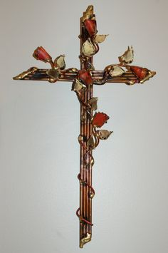 cross with leaves