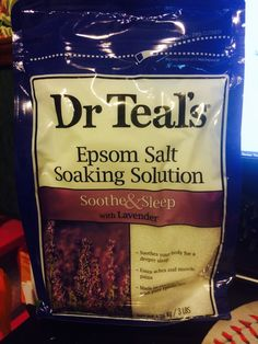 I received Dr. Teals Lavender Epsom Salt for free from Smiley360 to test and review!