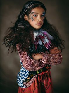 From Naif magazine a great kids fashion shoot by Polish photographer Piotr Motyka and French stylist Julie Vianey with an ethnic tribal theme to the styling Fashion Shoot, Girl Fashion, Tribal Fashion, Beautiful Children, Beautiful People, Namaste, Kids Outfits, Cute Outfits, Ethno Style
