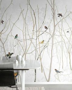 papier peint salon de style scandinave, papier peint panoramique