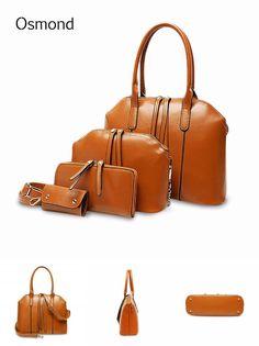 [Visit to Buy] Osmond New 4pcs/sets Women Messenger Bag Handbags Purse Key Bags PU Leather Shoulder Crossbody Bags Oblique Package Lady Clutch #Advertisement