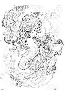 mermaids tattoo drawings - Google Search