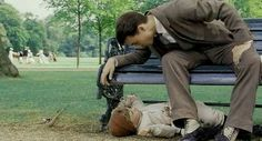 {Johnny Depp as Sir James Mathew Barrie and Freddie Highmore as Peter Llewelyn Davies} Finding Neverland Movie, Never Say Goodbye, Freddie Highmore, Johnny Depp, Boys Who, Peter Pan, We Heart It, Movie Tv, Writer