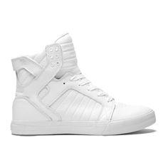 Hippe Supra Skytop (Wit/wit) Sneakers van het merk Supra voor  . Uitgevoerd in Wit/wit gemaakt van Mesh.